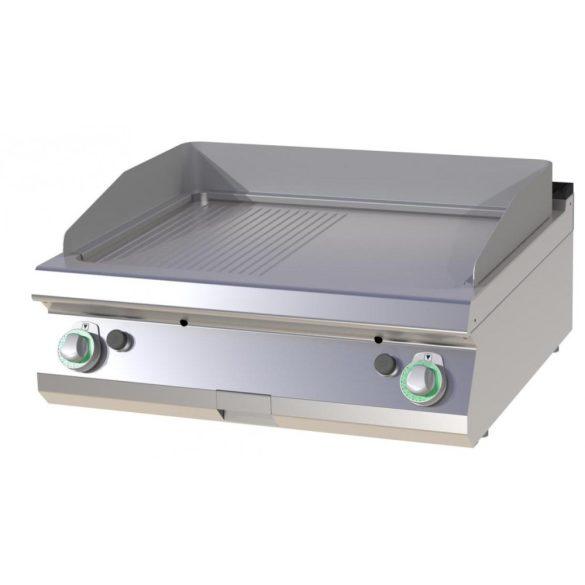 RM GASTRO FTHRC 708 G Szeletsütő lap 1/2 sima, 1/2 bordázott króm sütőfelülettel, gázüzemű asztali, 800 mm