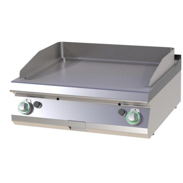 RM GASTRO FTHC 708 G Szeletsütő lap sima króm sütőfelülettel, gázüzemű asztali, 800 mm