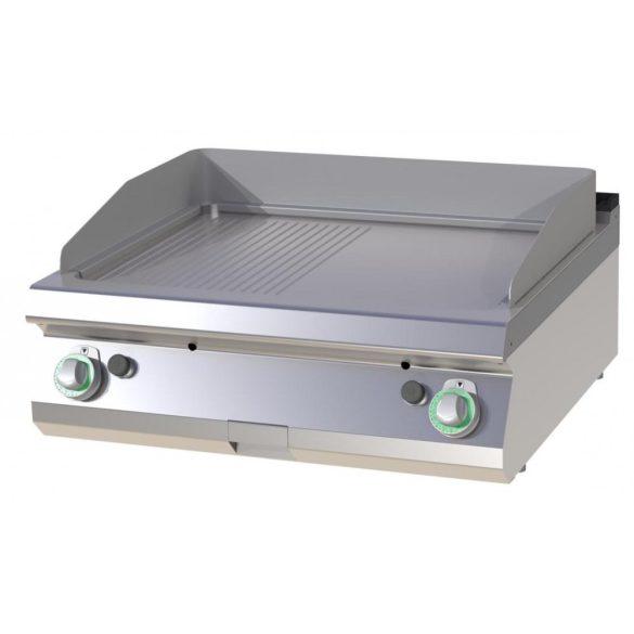 RM GASTRO FTHR 708 G Szeletsütő lap 1/2 sima, 1/2 bordázott sütőfelülettel, gázüzemű asztali, 800 mm