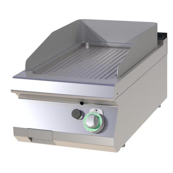 RM GASTRO FTRC 704 G Szeletsütő lap bordázott króm sütőfelülettel, gázüzemű asztali, 400 mm