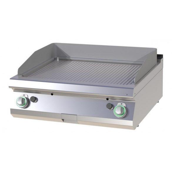 RM GASTRO FTR 708 G Szeletsütő lap bordázott sütőfelülettel, gázüzemű asztali, 800 mm