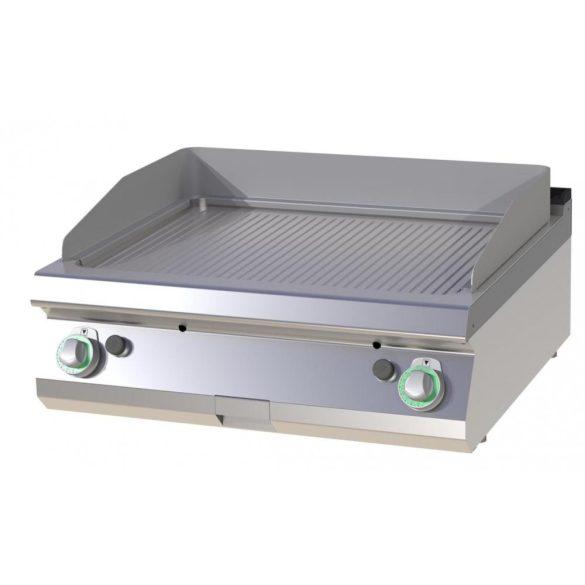 RM GASTRO FTRC 708 G Szeletsütő lap bordázott króm sütőfelülettel, gázüzemű asztali, 800 mm