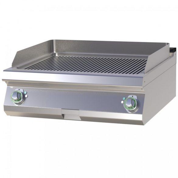 RM GASTRO FTR 708 E Szeletsütő lap bordázott sütőfelülettel, elektromos asztali, 800mm