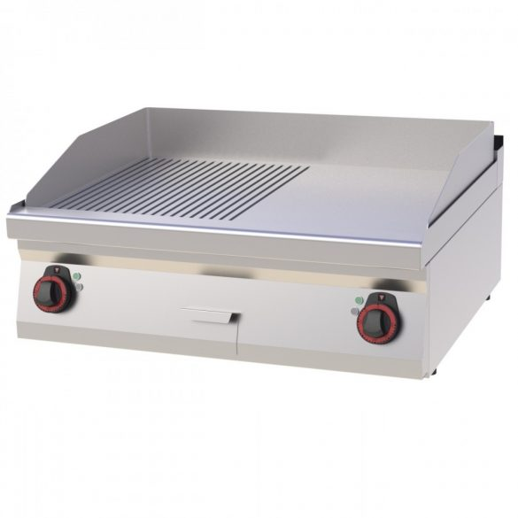 REDFOX FTHR 70/08 E Szeletsütő lap sima+bordázott sütőfelülettel, elektromos asztali, 800mm