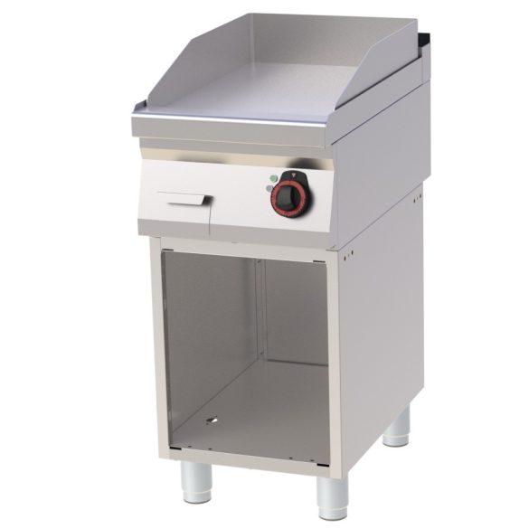 REDFOX FTH 70/40 E Szeletsütő lap sima sütőfelülettel, elektromos, nyitott tárolószekrénnyel, 400mm