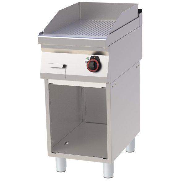 REDFOX FTR 70/40 E Szeletsütő lap bordázott sütőfelülettel, elektromos, nyitott tárolószekrénnyel, 400mm