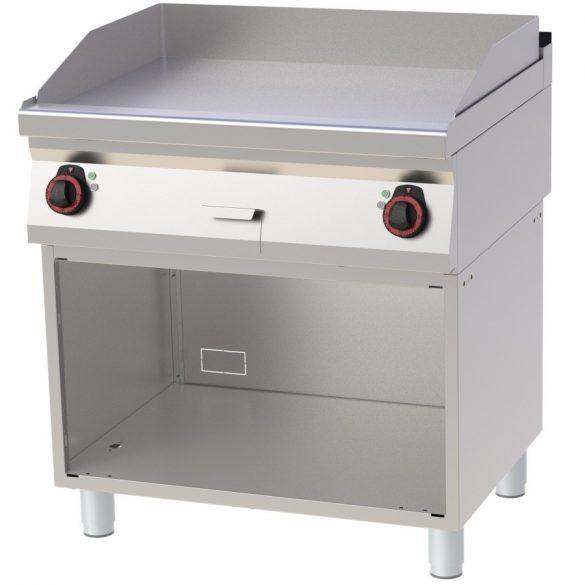 REDFOX FTH 70/80 E Szeletsütő lap sima sütőfelülettel, elektromos, nyitott tárolószekrénnyel, 800mm