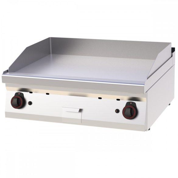 REDFOX FTH 70/08 G Szeletsütő lap sima sütőfelülettel, gázüzemű asztali, 800mm