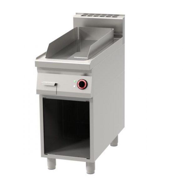 REDFOX FTH 90/40 E Szeletsütő lap, elektromos, sima sütőfelülettel, nyitott tárolóval, 400mm