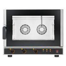TECNOEKA EKF 464 ALUD Légkeveréses sütő direkt vízbefecskendezés, 4x 60*40 cm-es tálcahellyel, oldalra nyíló ajtóval.
