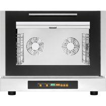TECNOEKA EKF 411 D Légkeveréses sütő, digitális vezérléssel, 4xGN1/1 tálcahellyel, párásító funkcióval