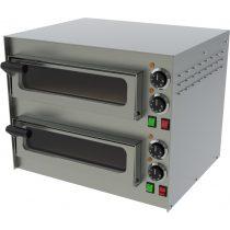 Pizzakemence elektromos, 2 sütőtérrel, 400C-os max hőmérséklettel – REDFOX FP 68 RS