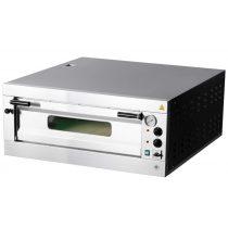 REDFOX E 6 Pizzakemence elektromos, analóg hőmérővel, 7,2kW, 6db 33cm-es pizzához