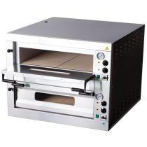 REDFOX E 12 Pizzakemence elektromos, kétkamrás, analóg hőmérővel, 14,4kW, 6+6db 33cm-es pizzához