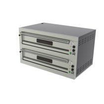 REDFOX E 12 L Pizzakemence elektromos, kétkamrás, analóg hőmérővel, 16kW, 6+6db 33cm-es pizzához