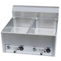 Vízfürdős melegentartó, kétmedencés asztali elektromos, 660mm – REDFOX BM 60 EL