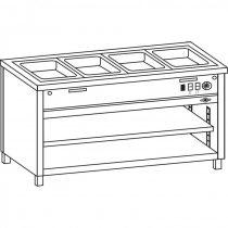 Vízfűrdős melegentartó, 3 oldalon zárt, polccal, 2*GN1/1, OSZTATLAN medencével – COLD G071-02E