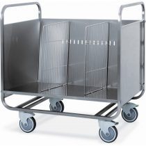 Tálca és tányérszállító kocsi, rozsdamentes, belül elválasztható kialakítással – METALCARRELLI 1270P