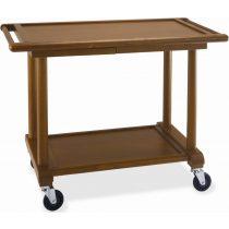 Fa szervizkocsi, 2 szintes, tányértartó fiókkal – METALCARRELLI 6100