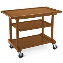 Fa szervizkocsi, 3 szintes, tányértartó fiókkal – METALCARRELLI 6102