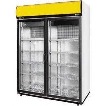 Hűtőszekrény nyíló üvegajtóval, felső aggregátoros, statikus hűtéssel, 1029 literes – COLD SW-1200DP A/G