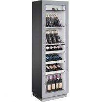 Borhűtőszekrény, fémszínű burkolattal, ventillációs hűtéssel, kihúzható fiókos, 72 palackhoz – ENOFRIGO MIAMI MEDIUM VT RF 12 DR