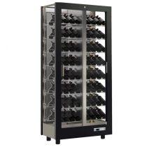 Borhűtő fal, három oldalon üveg, zárt hátfallal, 112 döntött palackhoz – EXPO TV-M12