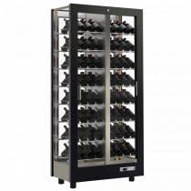 Borhűtő fal panoráma üveg burkolattal, 112 döntött palackokhoz – EXPO TV-C12