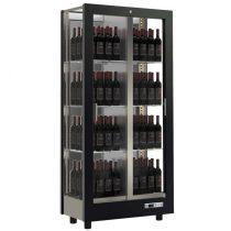 Borhűtő fal, három oldalon üveg, zárt hátfallal, 128 álló palackhoz – EXPO TV-M13