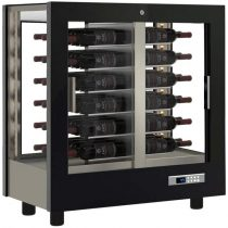 Asztali borhűtő vitrin panoráma üveg burkolattal, 48 álló palackhoz – EXPO TV-C20
