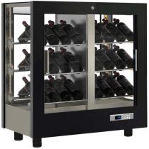 Asztali borhűtő vitrin, panoráma üveg burkolattal, 42 döntött palackhoz – EXPO TV-C22