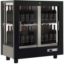 Asztali borhűtő vitrin, panoráma üveg burkolattal, 64 álló palackhoz – EXPO TV-C23