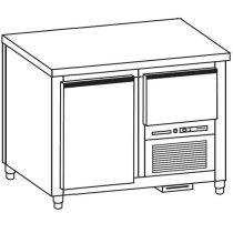 Hűtött munkaasztal 1 ajtós/1 fiók gránit fedlappal – COLD G020-09G