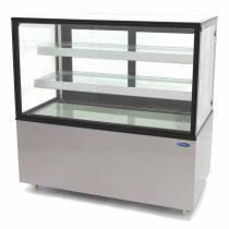 Maxima 09400838 Süteményes hűtőpult ventilációs hűtéssel, 400 literes, 1215x675x1210mm