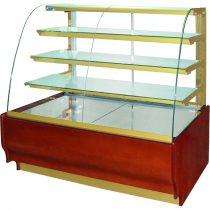 """Süteményhűtő vitrin hajlított üvegezéssel, ventillációs hűtéssel, 1745x790mm """"CARMELLO"""" – COLD C-17 Gnw"""