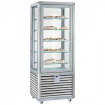 """Süteményhűtő vitrin, négy oldalon üvegezett, fix polcok, 360L """"CURVE"""" – SILFER CPS 350 V"""