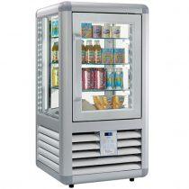 """Süteményhűtő vitrin, négy oldalon üvegezett, 98L """"CURVE"""" – SILFER CEB 100 V"""
