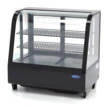 Maxima 09400831 Hűtővitrin, pultra helyezhető, hajlított üveges, 100 literes, fekete