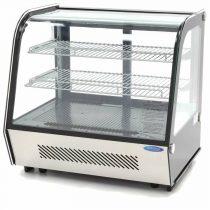 Maxima 09400845 Hűtővitrin, pultra helyezhető, hajlított üveges, 120 literes