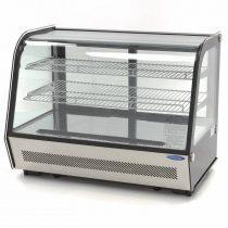 Maxima 09400850 Hűtővitrin, pultra helyezhető, hajlított üveges, 160 literes