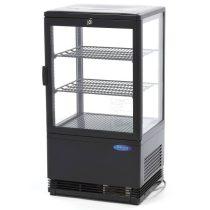 Maxima 09400801 Hűtővitrin, pultra helyezhető, sík üveges, 58 literes, fekete
