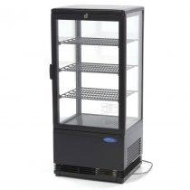 Maxima 09400806 Hűtővitrin, pultra helyezhető, sík üveges, 78 literes, fekete