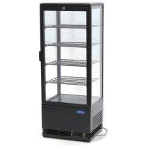 Maxima 09400811 Hűtővitrin, pultra helyezhető, sík üveges, 98 literes, fekete