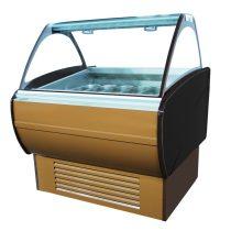 """Fagylaltpult 12/8 tégelyes, ventillációs hűtéssel """"MALIBU"""" – COLD W-12 DL"""