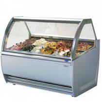 ENERGY fagylalt pult, front és oldalpanellel 24/16 tégelyes