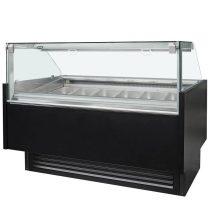 """Fagylaltpult 16/10  tégelyes, ventillációs hűtéssel """"GALAXY"""" – COLD W-16 DL PP"""