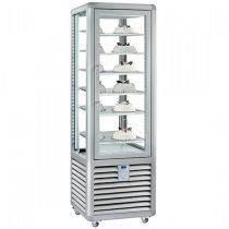 """Fagylalt parfé vitrin, négy oldalon üvegezett, 360L """"CURVE"""" – SILFER CGL 350 S"""