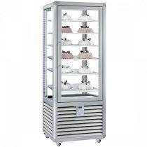 """Fagylalt parfé vitrin, négy oldalon üvegezett, 427L """"CURVE"""" – SILFER CGL 450 S"""