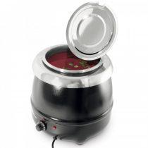 HENDI 860083 Leves melegentartó, elektromos, 8 literes, festett fekete burkolattal