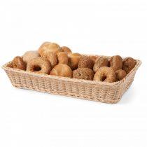 HENDI 561102 Műrattan kenyérkosár, szögletes, erősített kivitel, 530x320mm (GN1/1)